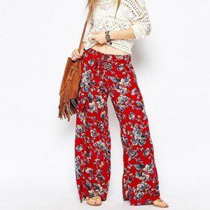 Denim & Supply Floral Smocked Wide Leg Pants Boho